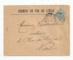 Lettre , 1903 ,  Paris 22 ,  R. DE PROVENCE , NIORT ,  2 Scans - Storia Postale