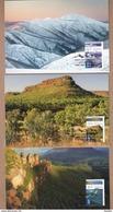 Australia Maxicards FDI 2014 Wilderness Australia- Set 3 International Stamps Face Value $15.50 - Maximumkaarten