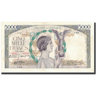 France, 5000 Francs, 1939-01-19, KM:97b, SUP, Fayette:46.2 - 1871-1952 Anciens Francs Circulés Au XXème