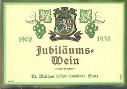 1 Etiquette Ancienne De VIN ALLEMAND - JUBILAUMS WEIN - 1938 - Riesling