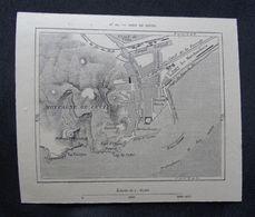 Plan Ancien De SETE, CETTE, ( Hérault), Datant De 1878. - Cartes Géographiques