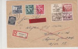 Ortseinschreiben Per Express Ua. Mit Zusammendruck Aus Chemnitz 14.2.38  / Brief War Gefaltet - Germany