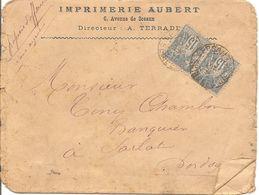 SAGE X2  Sur  ENV  OBLI  VERSAILLES  Pour SARLAT - Marcophilie (Lettres)