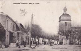 LAU- LANDIRAS  EN  GIRONDE  PLAE DE L'EGLISE      CPA  CIRCULEE - France