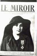 CPA N°19054 - CARTE PHOTO FORMAT CPA TIREE DU MIROIR - Mlle EMILIENNE MOREAU HEROINE DE LOOS - ARCHIVE UNIQUE - Guerre 1914-18