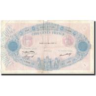 France, 500 Francs, 1937-03-11, KM:66m, TB, Fayette:30.38 - 1871-1952 Anciens Francs Circulés Au XXème