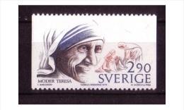 PRIX NOBEL PRIZE NOBELPREIS PAIX FRIEDEN PEACE 1979 MOTHER TERESA MNH SWEDEN SUEDE SCHWEDEN 1986 MI 1417 - Mother Teresa