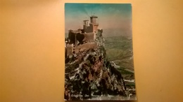 CARTOLINA POSTCARD VIAGGIATA 1954 SAN MARINO-ALESSANDRIA PRIMA TORRE - San Marino