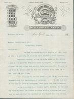 New York -Correspondance Complète De 4 Pages à Entête Du 23 Janvier 1894 - Joseph Beck. Rye & Bourbon.Whiskies 4 Scans - Etats-Unis