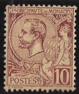 Monaco (C) 1891-94 Y&T N°14 * - 10c Prince Albert 1er - Monaco