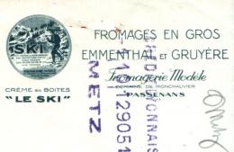 LE SKI  Fromages Domaine De Monchauvier   PASSENANS  (Doubs)   Fiscal - Lettres De Change