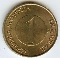 Slovénie Slovenia 1 Tolar 2001 KM 4 - Slovénie