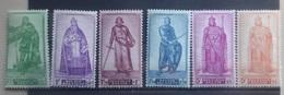 BELGIE 1946    Nr. 737-41 / 742    Postfris **    CW  29,00 - Unused Stamps