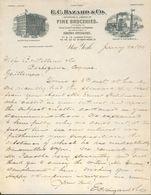 Etats Unis. New York - Entête Du 20 Janvier 1899. - E.C. Hazard & Co. Fine Groceries - 117 & 119 Hudson Street - Etats-Unis