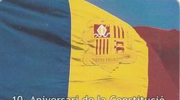 CARTE TELEPHONIQUE  111 UNITATS  ANDORRE  10e ANIVERSARI DE LA CONSTITUCIO - Andorra