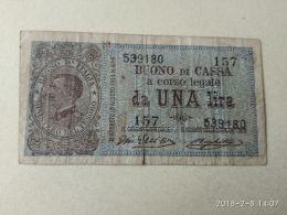 1 Lira 21/9/1914 - [ 1] …-1946 : Kingdom