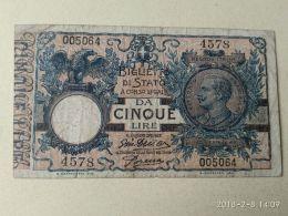5 Lire 1918 - [ 1] …-1946: Königreich