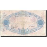 France, 500 Francs, 1928-04-24, KM:66k, TB, Fayette:30.31 - 1871-1952 Anciens Francs Circulés Au XXème