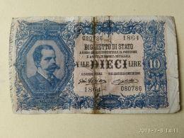 10 Lire 1914 - [ 1] …-1946 : Kingdom