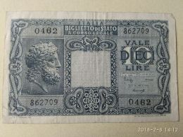 10 Lire 1944 - [ 1] …-1946 : Kingdom
