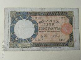50 Lire 10/1938 - [ 1] …-1946 : Regno
