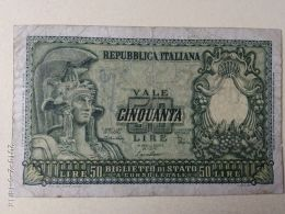 50 Lire 1951 - [ 2] 1946-… : Républic
