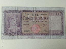 500 Lire 1961 - [ 2] 1946-… : Repubblica