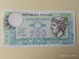 500 Lire 1974 - [ 2] 1946-… : Républic