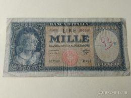 1000 Lire 1961 Medusa - [ 2] 1946-… : République