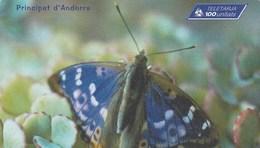 CARTE TELEPHONIQUE  100 UNITATS  ANDORRE  PAPILLON - Andorra