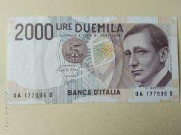 2000 Lire 1990 - [ 2] 1946-… : Republiek