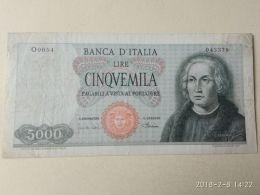 5000 Lire 4/1/1968 - [ 2] 1946-… : Républic
