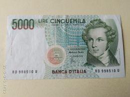 5000 Lire 1985 - [ 2] 1946-… : Repubblica