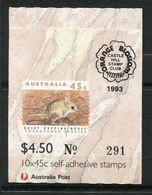Australia, Yvert Carnet1249b, Scott 1246b, SG SB78a, Overprinted Blossom 93, 2 Koalas, MNH - Carnets