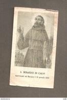 S. BERARDO DI CALVI  SANTINO ORIGINALE D'EPOCA - Santini