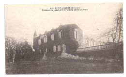 CPA Saint Loubes 33 Gironde Château De Labatut Côté Parc éditeur AH Non écrite - Francia