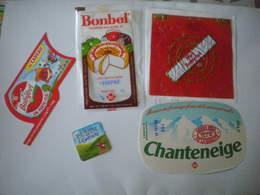 Lot 5 étiquettes De Fromage Lorraine BEL Babybel Bonbel Vache Qui Rit - Cheese
