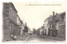 CPA Saint Loubes 33 Gironde Grand'rue Grande Rue Et Route De Saint Pardon Café Du Nord éditeur Veuve Henry Guiller - Other Municipalities