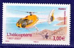 France PA  70 Hélicoptère  2007  Neuf ** TB MNH Sin Charnela Faciale 3 - Posta Aerea
