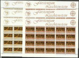 1985 Liechtenstein EUROPA CEPT EUROPE 60 Serie Di 2v. MNH** In 6 Minifogli Minisheets - Europa-CEPT