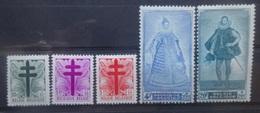 BELGIE 1948    Nr. 787 - 791    Spoor Van Scharnier *    CW  36,00 - Unused Stamps