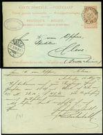 België 1899 Postkaart Naar Cleve - Enteros Postales