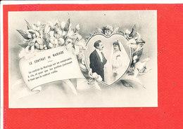 NOCE CONTRAT De MARIAGE Cpa Animée Avec Ange - Noces