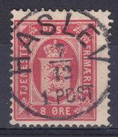 Denmark 1875 Mi. 6 Y A   8 Øre Dienstmarke Perf. 14x13½ Deluxe Lapidar HASLEV Cancel !! (2 Scans) - Service