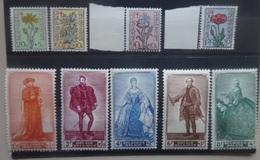 BELGIE 1949    Nr. 814 - 822    Postfris **   CW  72,00 - Unused Stamps