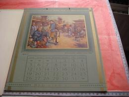 Red Star Line World Cruise - Shipping Calendar 12 Months - Illustrator VAN ROOSE Belgenland Approx 1930 Antwerpen VG - Calendriers