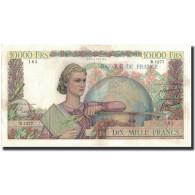 France, 10,000 Francs, 1951-03-01, KM:132c, TTB+, Fayette:50.48 - 10 000 F 1945-1956 ''Génie Français''