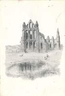 YORKS - WHITBY ABBEY By COLIN WILLIAMSON - ART - Whitby