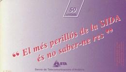 CARTE TELEPHONIQUE  50 UNITATS...ANDORRE...SIDA . - Andorra