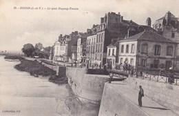 Redon Le Quay Duguay Trouin Pecheur Sur Le Quai Filet Carrelé 1908 - Redon